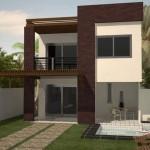 Plano de duplex moderno sin cochera