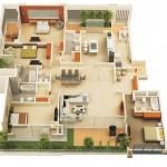 Plano de piso 120 metros cuadrados