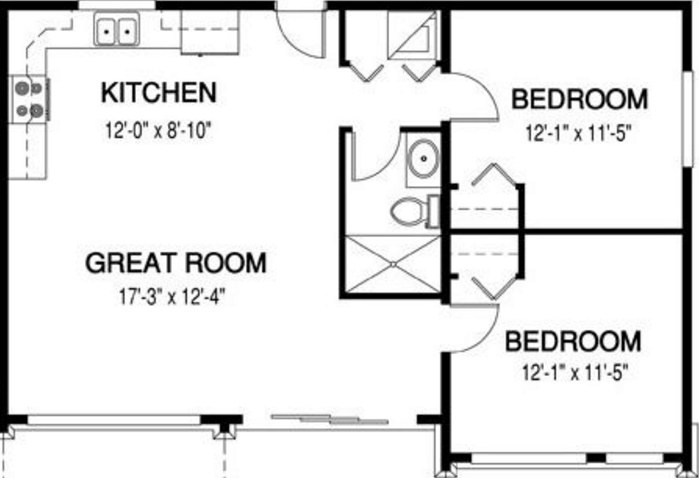 Plano de vcasa pequeña y moderna de 50 m2
