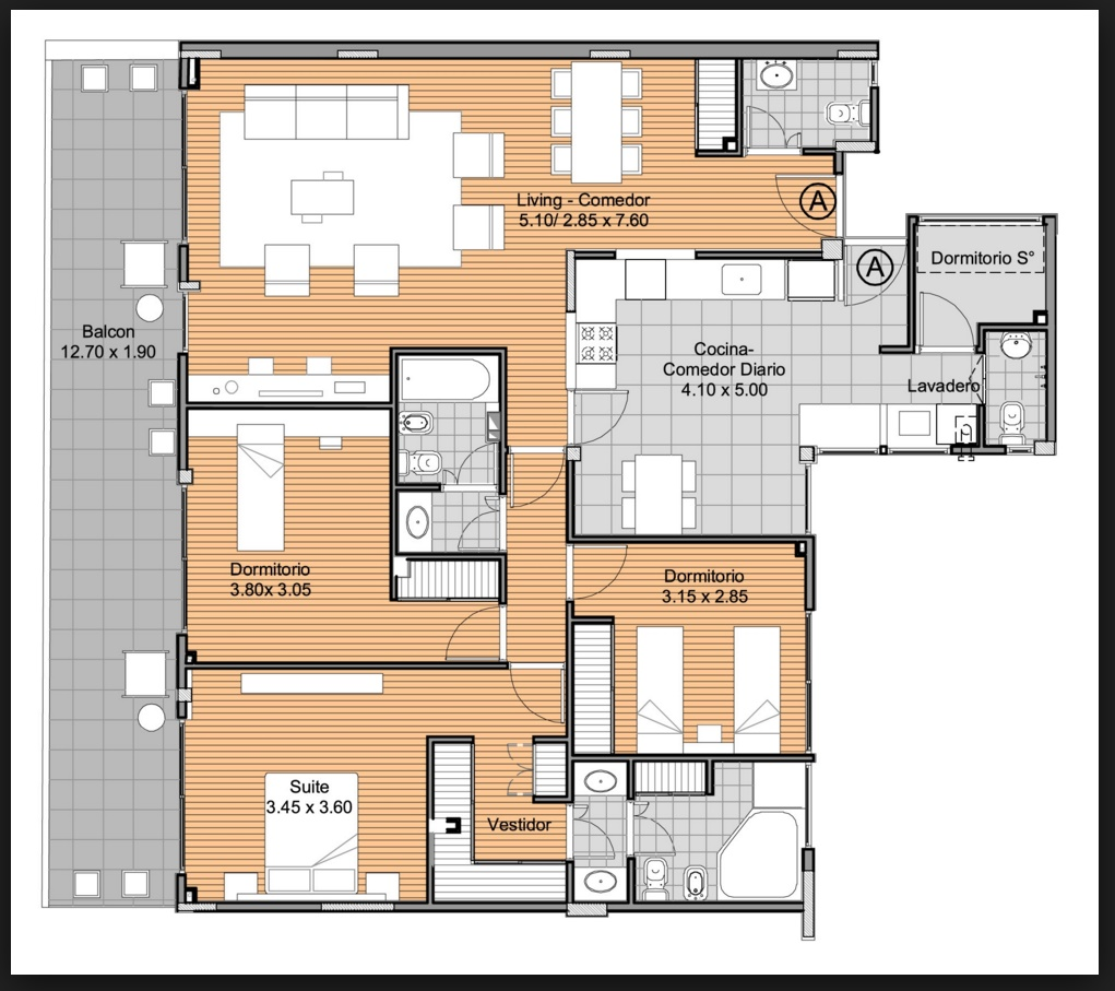Planos de apartamentos 3 habitaciones for Diseno de apartamento de una habitacion