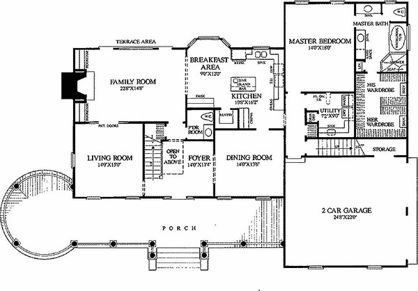 Planos de casa colonial de dos plantas y cuatro dormitorios