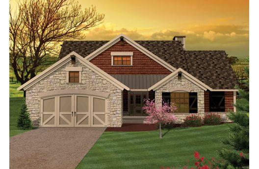 Planos de casa de campo de tres dormitorios