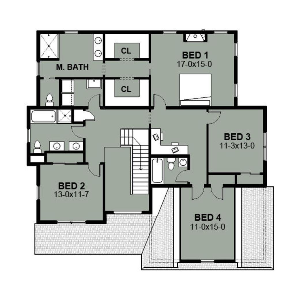 4 baños | planos de casas modernas