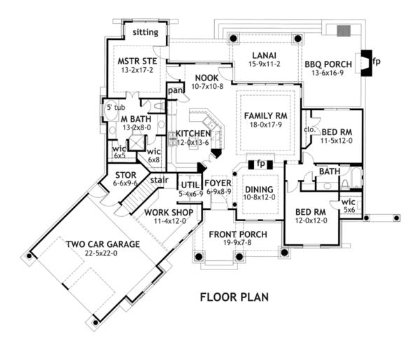 Planos de casa de tres dormitorios y dos garajes