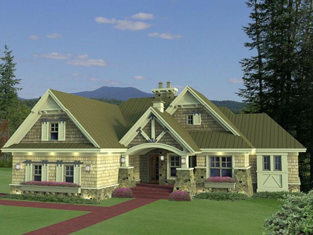 Planos de casa de una planta y tres dormitorios