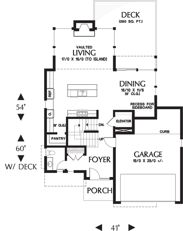 Planos de casa moderna de dos plantas y cuatro dormitorios