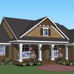 Planos de casa rural con tres dormitorios y dos baños