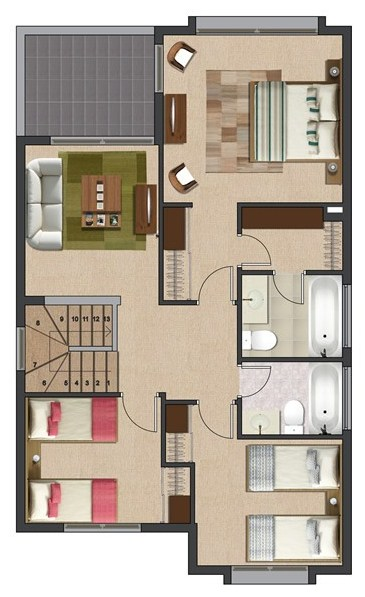Planos de casas argentina for Planos y fachadas de casas pequenas de dos plantas