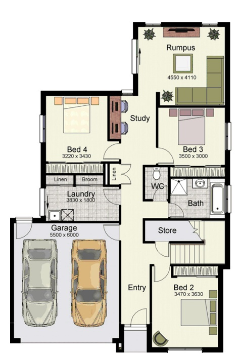 Planos de casas de 2 plantas planos de casas modernas - Distribuciones de casas modernas ...