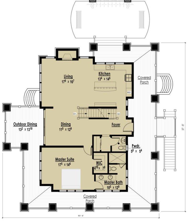 Planos de una casa de dos plantas en una pendiente