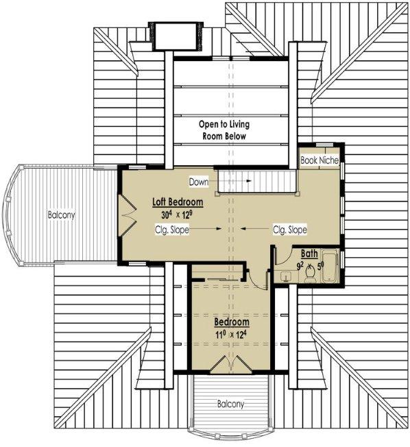 Planos de una casa de dos plantas en una pendiente - Planos casa una planta ...