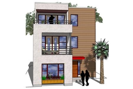 Plano de departamento planos de casas modernas for Disenos de departamentos pequenos modernos