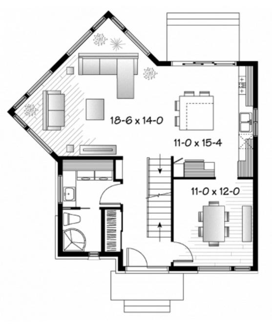 casa de 2 pisos con fachada