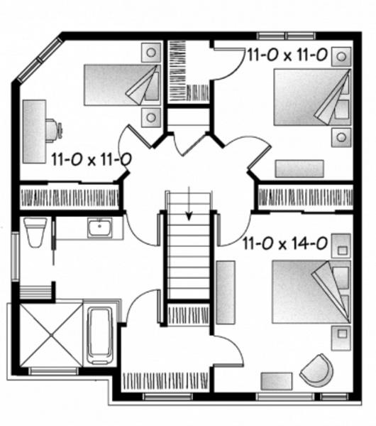 casa de 2 pisos frente