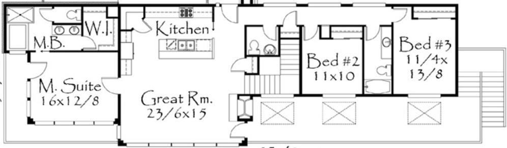 Plano de casa moderna de 5 dormitorios for Casa moderna 5 dormitorios