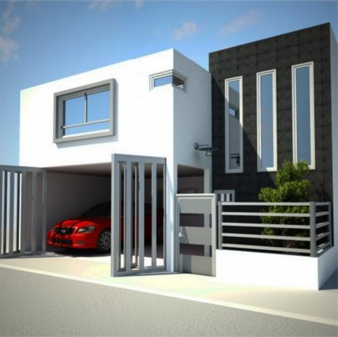 Fachadas de casas planos de casas modernas for Fachadas duplex minimalistas