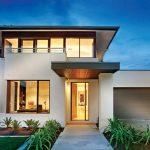 Planos de una casa moderna de 2 pisos y balcón