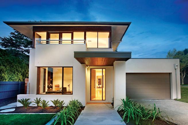 planos de casas modernas de dos pisos con balcon