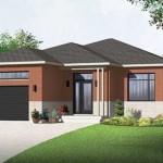 Plano de casa moderna de 10x15m