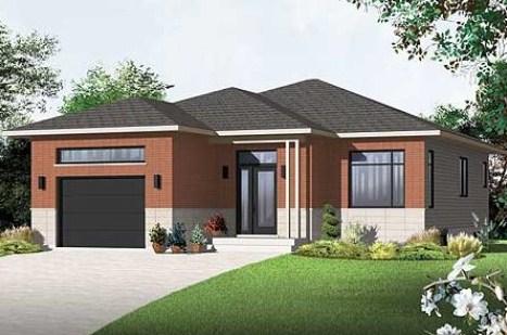 Modelo de casa moderna de 10x15m