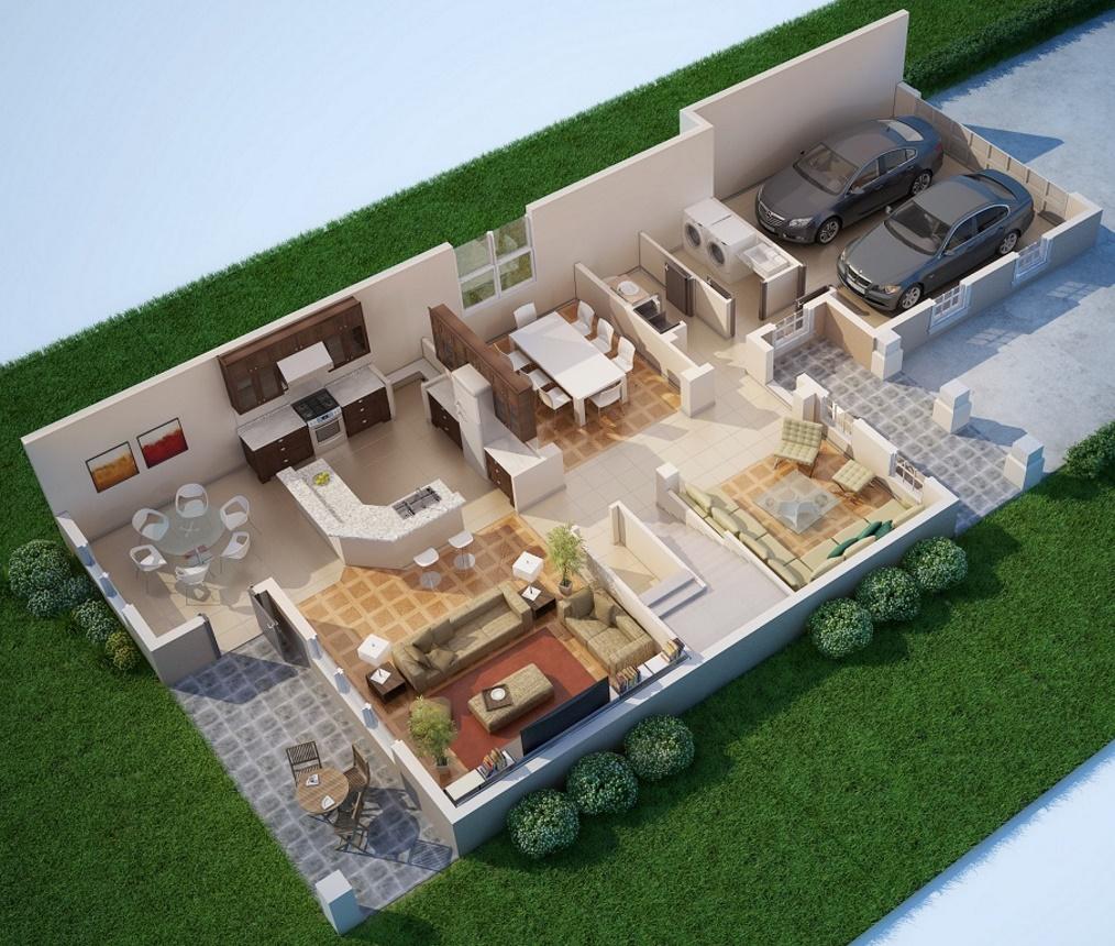 Planta arquitectonica planos de casas modernas for Viviendas modernas de una planta