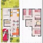 Plano de casa de dos pisos y 85 m2