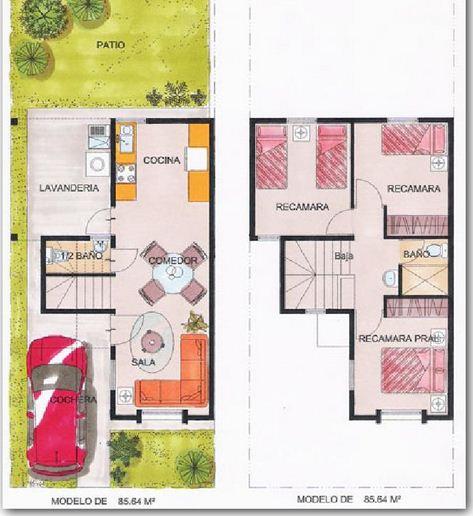 Plano de casa moderna planos de casas modernas for Planos de casas de 2 pisos