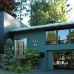Plano de casa en 2 pisos con diseño moderno