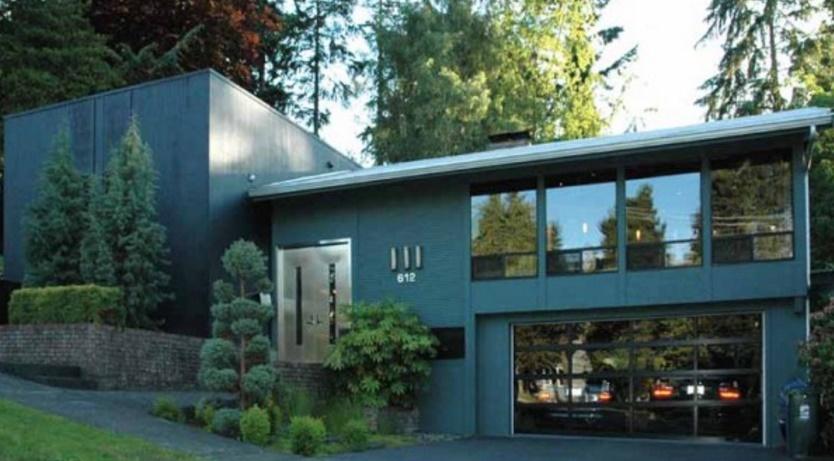 plano de casa en pisos con diseo moderno