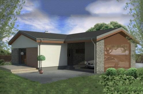 Plano de casa moderna de 154m2