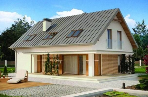 Plano de casa moderna de 2 pisos y 3 dormitorios
