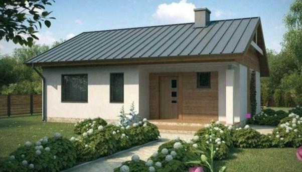 Plano de casa moderna de 90 m2 en un nivel