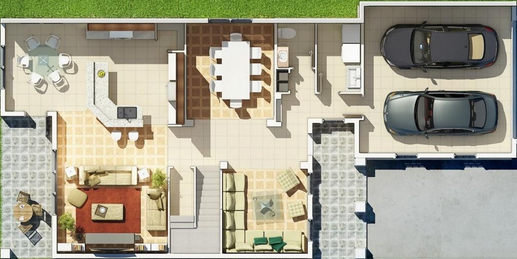 planta arquitectonica planos de casas modernas