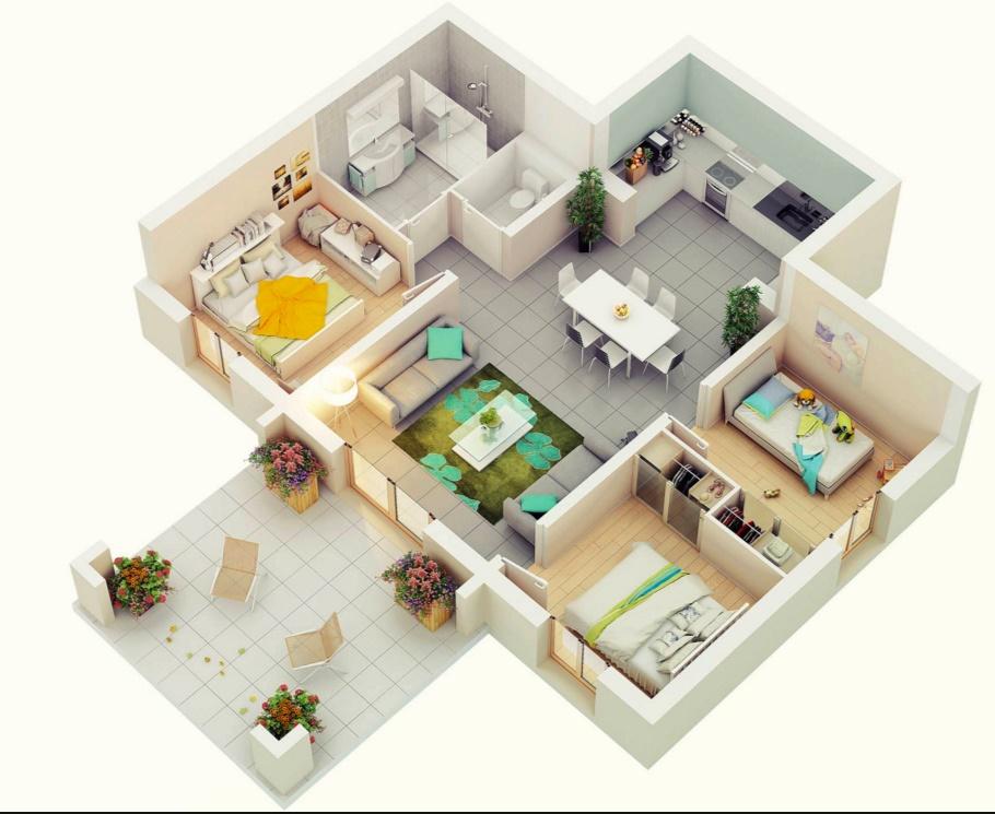 Planos de casa de un piso for Ver planos de casas de un piso