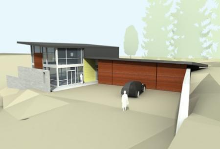 plano de casa minimalista grande