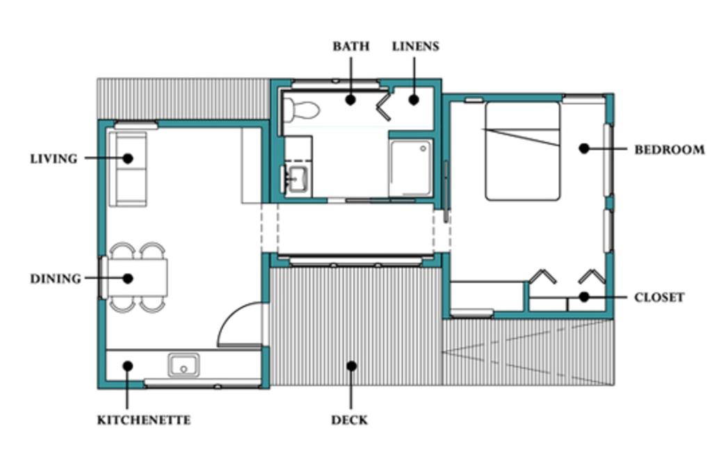1 dormitorio planos de casas modernas for Planos de casa habitacion