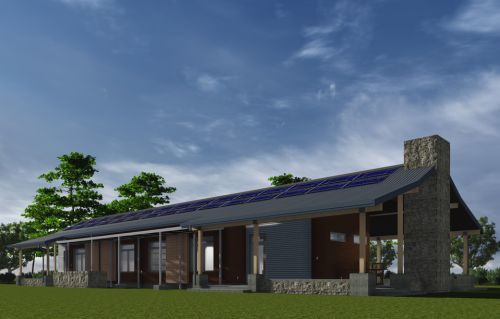 plano de casa tipo rancho moderno