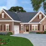 Plano de casa tradicional con garaje