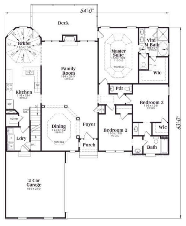 plano de casa tradicional con garaje2