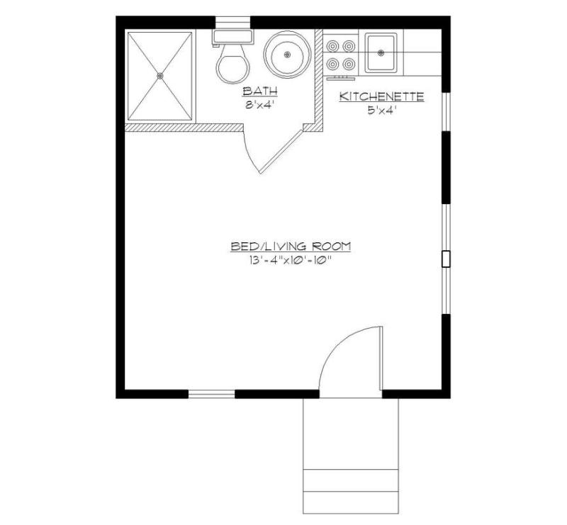 plano de departamento pequeño 21m2-2