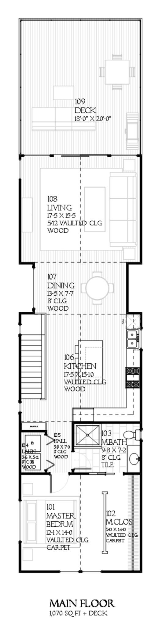 planos de casa duplex con garaje3