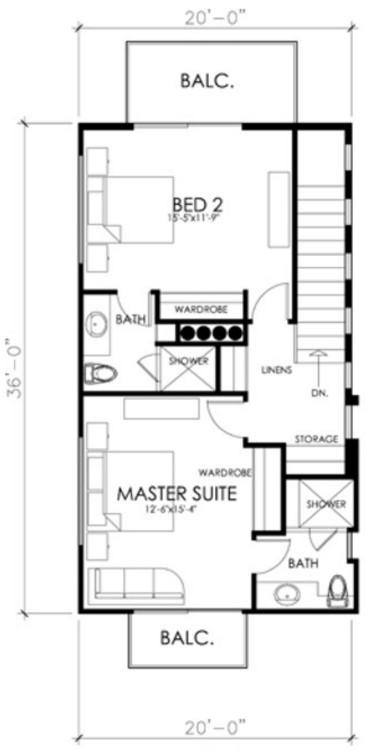 3 pisos con 2 dormitorios