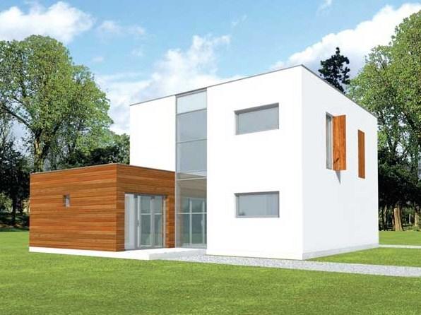 Plano de casa minimalista de dos plantas planos de casas for Casa minimalista 2 dormitorios