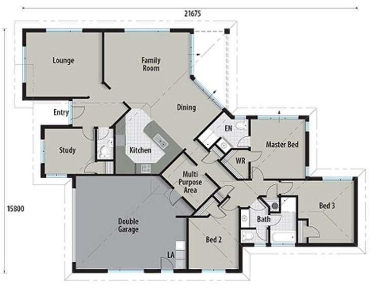Casas de un piso con garage doble más 3 dormitorios y dos baños
