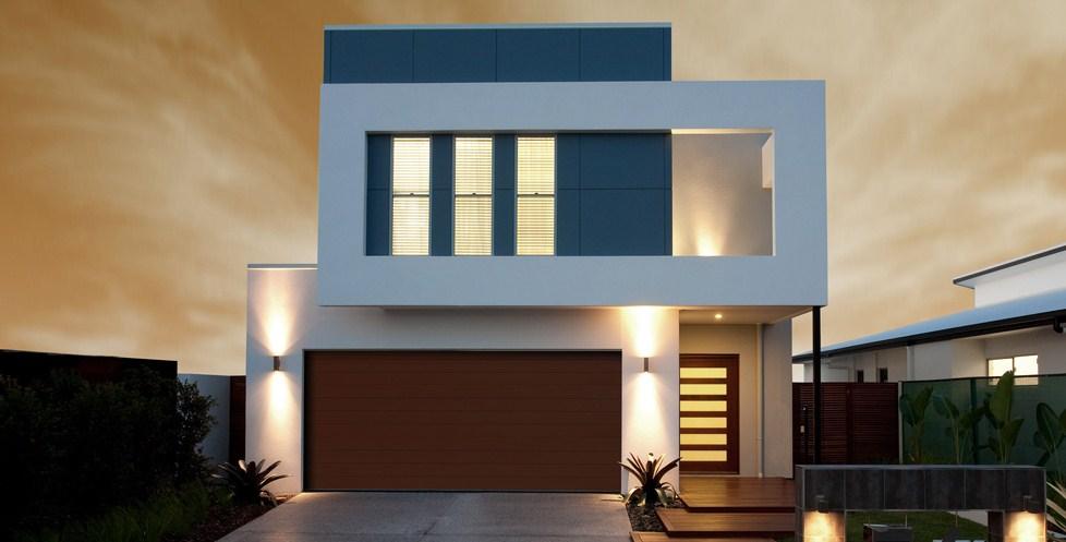 modelo de casa minimalista moderna de 2 pisos
