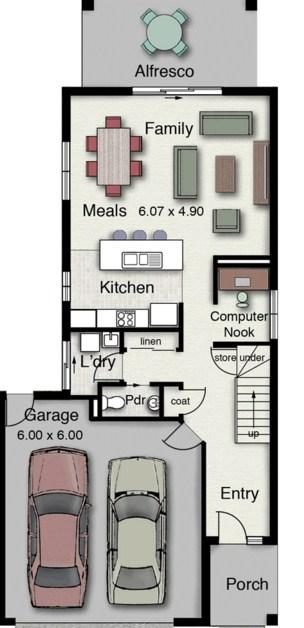 Modelo de casa minimalista moderna de 2 pisos for Plantas casas minimalistas