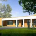Modelo de casa simple en 1 piso y con muchas aberturas