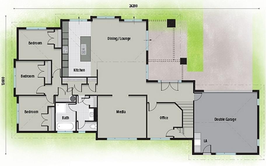 plano de casa de 2 pisos 4 dormitorios y 280 metros cuadrados