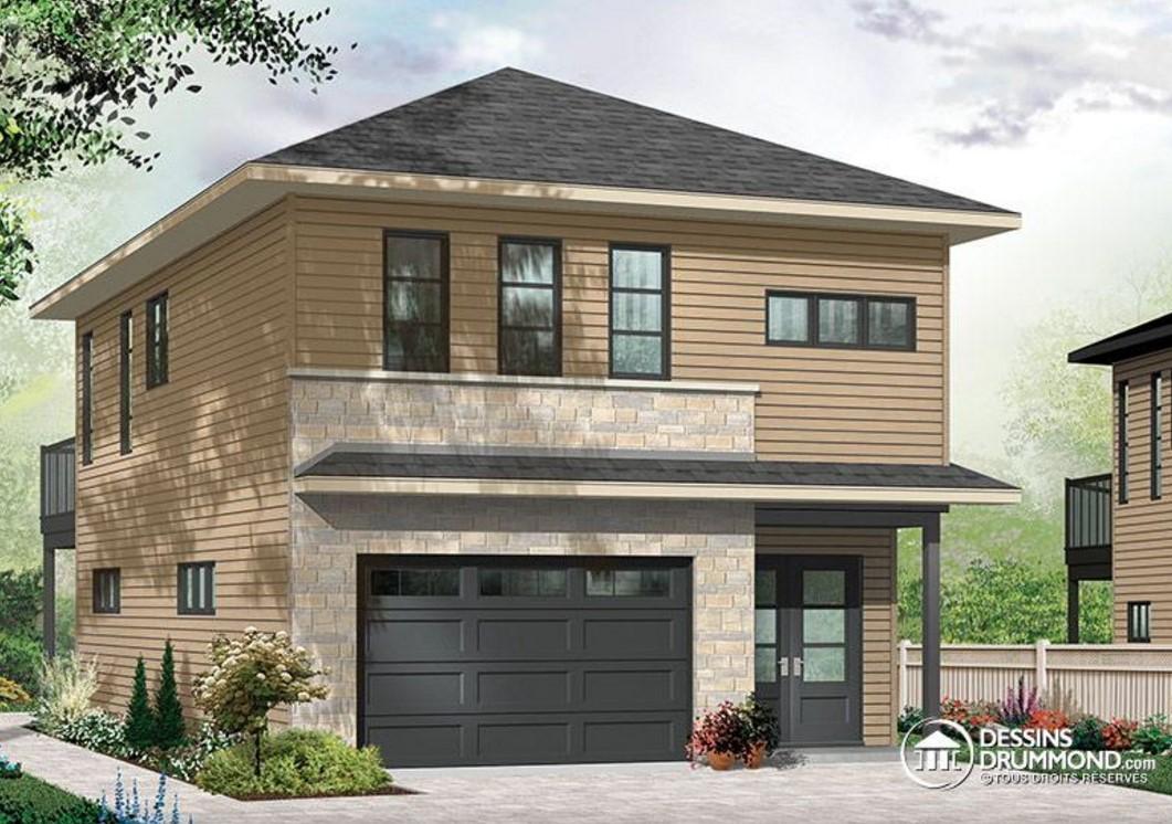 Plano de casa de 2 pisos y un solo dormitorio for Planos de casas de 2 pisos