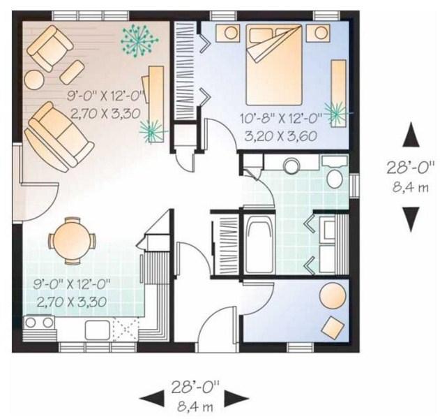 planos de casas 9 por 8